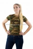 Maastokuvioitu T-paita naisille