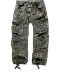 Pure Vintage housut, kivipesty, Woodland Camo