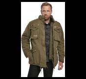 Brandit Giant-Jacket, m-65  kenttätakki, irtovuorella, kivipesty oliivinvihreä