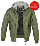 Brandit  MA1,Sweet Hooded Jacket,Oliivi