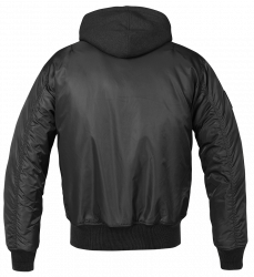 Brandit  MA1,Sweet Hooded Jacket,Black