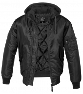 Brandit  MA1,Sweet Hooded Jacket,Black