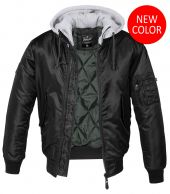 Brandit  MA1,Sweat Hooded Jacket,Musta Harmaa