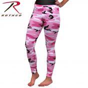 Ladies Pink Camo Leggins