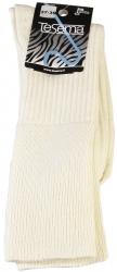 Kiristämätön Naisten Merinovillasukka,3 paria,musta/luonnon valkoinen