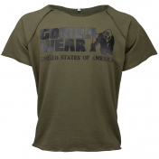 Classic Work Out Top,Army Green