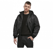 Brandit  MA1,Swett Hooded Jacket,Black