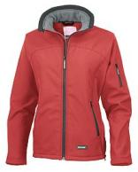 Naisten Soft Shell , Result , kalvotakki,Red